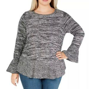 Style & Co. Womens Ruffled Bell Sleeves Pullover